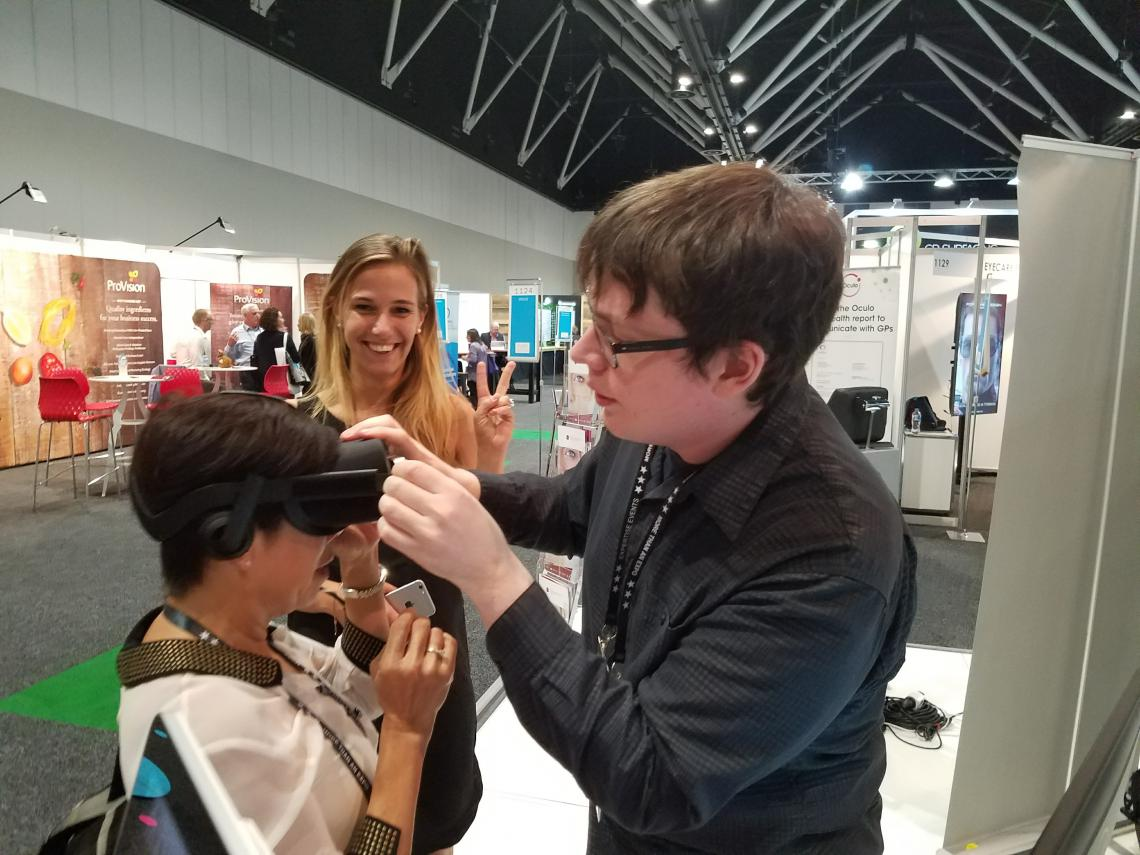 James Blaha demoing Vivid Vision in Australia.