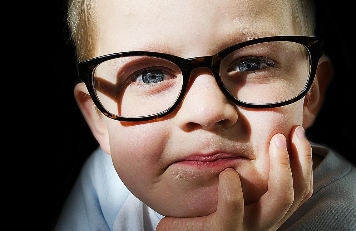 child with eyeglasses